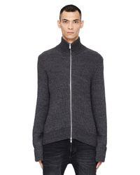 Maison Margiela - Gray Alpaca And Wool Cardigan for Men - Lyst