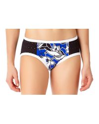 Anne Cole - Blue Hawaiian Punch Boy Brief Bikini Swim Bottom - Lyst
