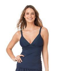Anne Cole - Blue Laser Dot Ots Banded Keyhole Tankini Swimsuit - Lyst