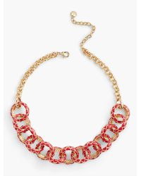 Talbots - Metallic Quilted Necklace - Lyst