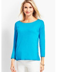 Talbots - Blue Side-button Sweater Topper - Lyst