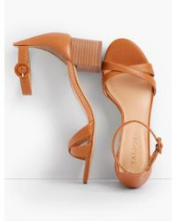 Talbots - Multicolor Mimi Ankle-strap Sandals - Pebbled Leather - Lyst