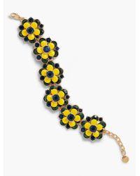 Talbots - Multicolor Enamel & Crystal Flowers Bracelet - Lyst