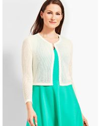 Talbots - White Open-stitch Dress Shrug - Lyst