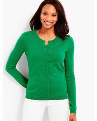 Talbots - Green Supersoft Charming Cardigan - Lyst