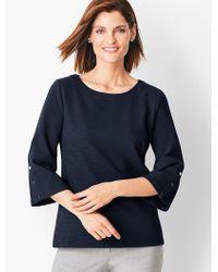 Talbots - Blue Bateau-neck Knit Top - Solid - Lyst