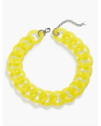 Talbots - Yellow Colorblocked Link Necklace - Lyst