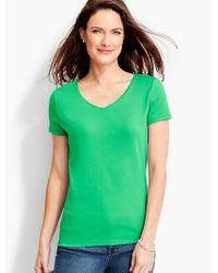 Talbots - Green Short-sleeve V-neck Pima Cotton -the Tee - Lyst