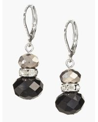 Talbots - Black Faceted Drop Earrings - Lyst