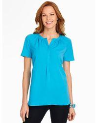 Talbots - Blue Short-sleeve Blouse - Lyst