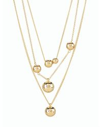 Talbots - Metallic Floating Orb Necklace - Lyst