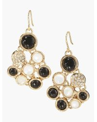 Talbots - Metallic Cluster Cabochon Earrings - Lyst