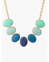 Talbots - Blue Mixed-color Cabochon Necklace - Lyst