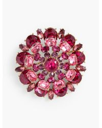 Talbots - Pink Sparkling Crystal Pin - Lyst