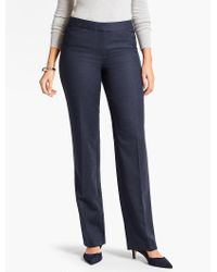 Talbots - Blue Italian Flannel Straight-leg Pant - Lyst
