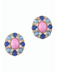 Talbots - Blue Cluster Bead Earrings - Lyst