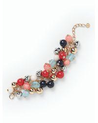 Talbots - Blue Bead Bauble Bracelet - Lyst