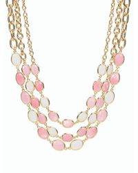 Talbots | Pink Triple Channel Necklace | Lyst