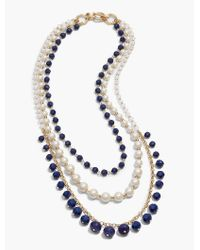 Talbots | Blue Multi-strand Rondelle Bead Necklace | Lyst
