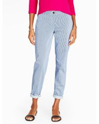 Talbots - Blue The Weekend Chino - Woven Pinstripes - Lyst