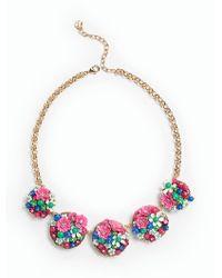 Talbots - Metallic Flower Bouquet Necklace - Lyst