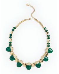 Talbots - Multicolor Pave Capped Necklace - Lyst