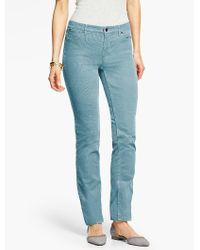 Talbots | Blue The Flawless Five-pocket Cord Straight-leg | Lyst