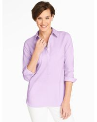 Talbots | Purple End-on-end Popover | Lyst