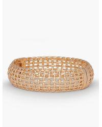Talbots - Metallic Americana Basketweave Bangle - Lyst