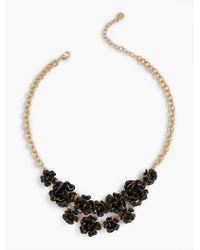 Talbots | Black Flamenco Flower Necklace | Lyst