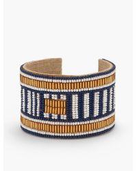 Talbots | Multicolor Seed-bead Cuff Bracelet | Lyst
