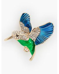 Talbots | Green Hummingbird Pin | Lyst