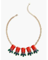 Talbots - Metallic Bead-drop Necklace - Lyst