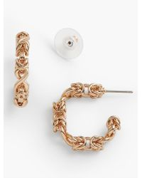 Talbots | Metallic Knotted Hoop Earrings | Lyst