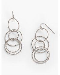 Talbots - Metallic Delicate Multi-link Drop Earrings - Lyst