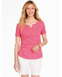 Talbots - Pink Chillmark Stripe Short-sleeve Tee - Lyst
