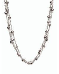 Talbots - Metallic Metal Layer Necklace - Lyst