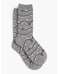 Talbots - Gray Christmas Light Socks for Men - Lyst