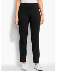 Talbots | Black High-waist Straight Leg Pant | Lyst
