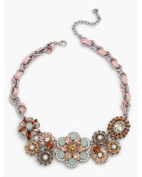 Talbots - Metallic Sequin & Ribbon Statement Necklace - Lyst