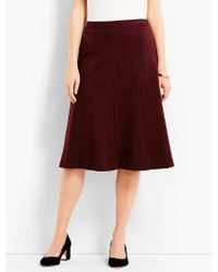 Talbots Multicolor Luxe Knit Swing Skirt