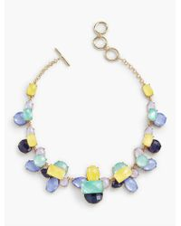 Talbots - Metallic Colorful Faceted Necklace - Lyst