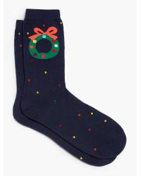 Talbots - Blue Wreath Trouser Sock for Men - Lyst