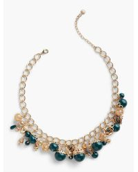 Talbots - Metallic Filigree Charm Necklace - Lyst