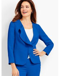 Talbots - Blue Seasonless Crepe Jacket - Lyst