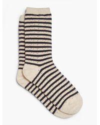 Talbots - Blue Confetti Stripe Trouser Sock - Lyst