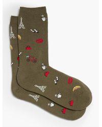 Talbots - Green Paris Trip Trouser Sock for Men - Lyst