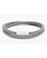 Tateossian | Gray Rt Rubber Cable Bracelet | Lyst