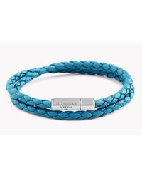 Tateossian - Blue Double Wrap Slim Pop Taito Bracelet - Lyst