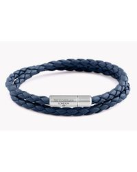 Tateossian | Blue Double Wrap Slim Pop Taito Bracelet for Men | Lyst